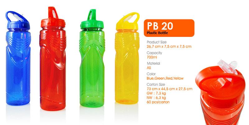 Tumbler Botol Plastik Dengan Sedotan 700 ml -  Vizeta | Supplier Merchandise & konveksi Perusahaan Tambang