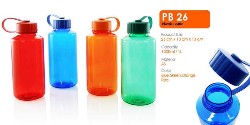 Tumbler Botol Plastik 1000 ml -  Vizeta | Supplier Merchandise & konveksi Perusahaan Tambang