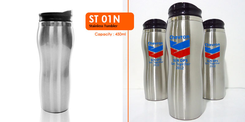 Tumbler Botol Stainless 450 ml - Vizeta   Supplier Merchandise & konveksi Perusahaan Tambang -  Vizeta   Supplier Merchandise & konveksi Perusahaan Tambang