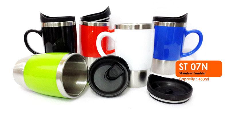 Gelas Mug Tumbler Stainless Dengan Gagang 450 ml - Vizeta | Supplier Merchandise & konveksi Perusahaan Tambang -  Vizeta | Supplier Merchandise & konveksi Perusahaan Tambang